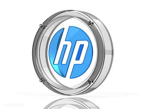 Glass and metal HP logo illustrations ? Norebbo