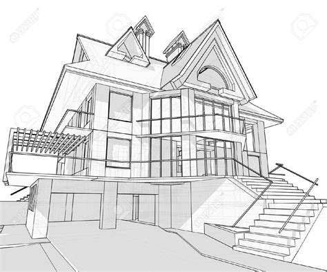 house drawing stock images royalty free images vectors sketch drawing of a house house vector technical draw