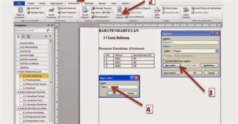 membuat daftar isi daftar gambar daftar tabel cara membuat daftar tabel gambar dan liran secara