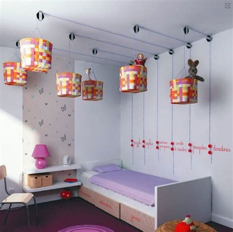 cool pulley system ceiling storage bedroom