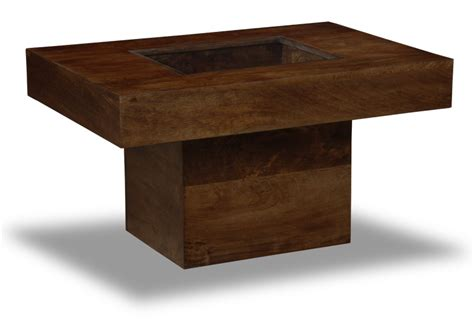 Small Wood Coffee Table Small Mango Coffee Table With Pebbles Trade Furniture Company