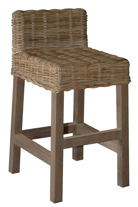 low bar stool chairs wicker counter stool with low back shape chairs and