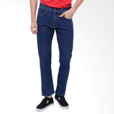 Celana Denim Medium Biru Slim Fit jual edwin roma slim fit panjang celana pria biru