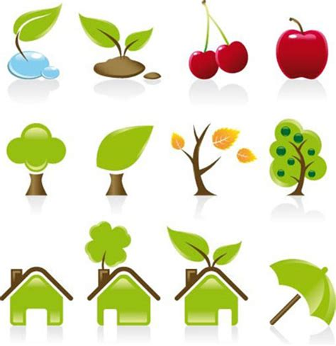 Eco House Design free vector art amp vector graphics environment icons