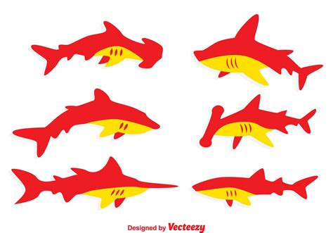 orange shark red and orange shark vectors download free vector art