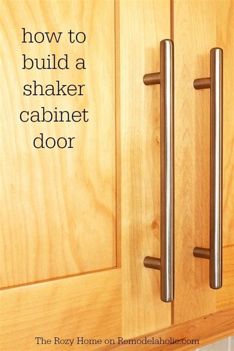 Shaker Cabinet Door Construction How To Build A Shaker Cabinet Door Not As Difficult As It Looks Remodelaholic