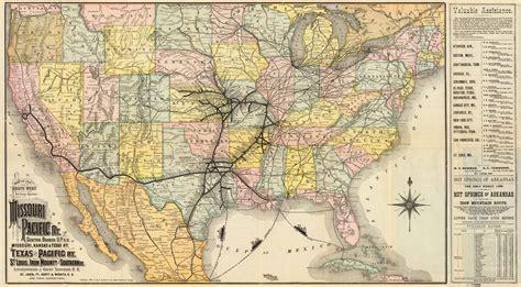 missouri pacific railroad map maps and trains of the 1880s marlena frank