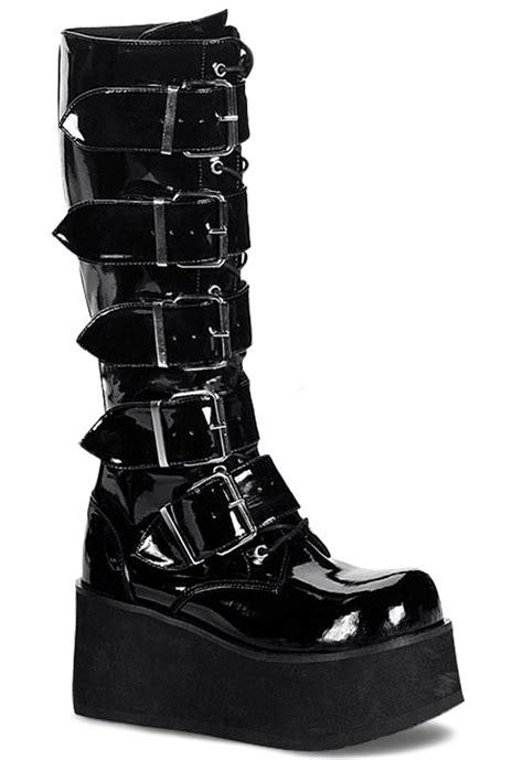 mens black platform boots trashville 518 platforms black patent