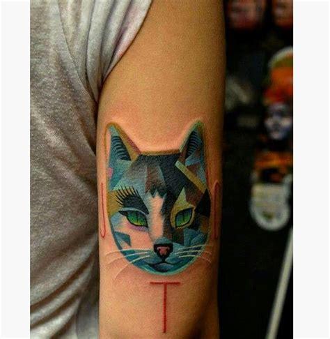 animal tattoo cat 15 geometric animal tattoos
