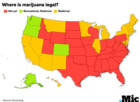 kansas marijuana laws recreational vs medical legalization here s a map of every state and their marijuana laws mic