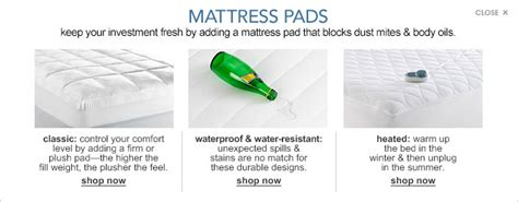 Mattress Pad Vs Topper by Air Mattress Pads Toppers Macy S