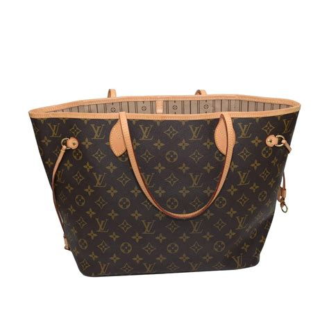 Interior Of Louis Vuitton Bag by Louis Vuitton Neverfull Mm Monogram W Beige Interior At