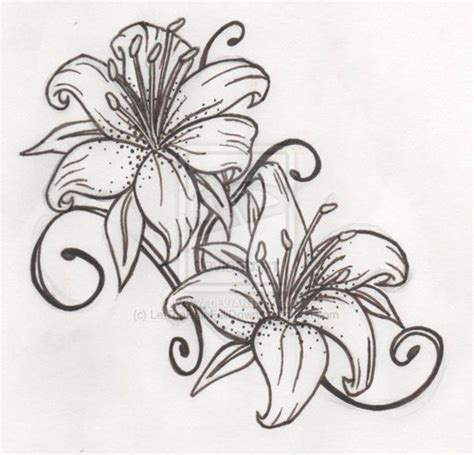 lily pattern tattoo 7 lily tattoo sles stencils and design ideas