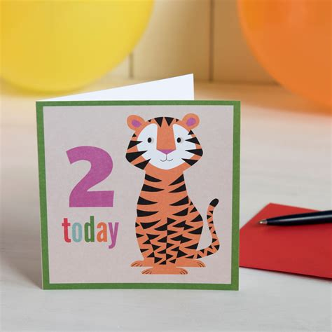 Tiger Gift Card - tiger card rex london at dotcomgiftshop