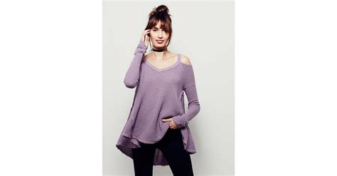 moonshine v neck pullover at free people clothing boutique free people moonshine v neck pullover in purple lyst