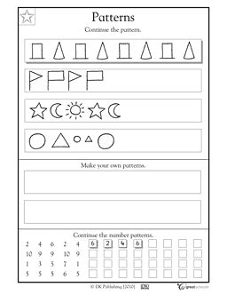 pattern math worksheets 1st grade our 5 favorite prek math worksheets patterns math and