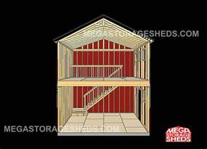 Two Story Shed Plans by 2 Story Storage Shed Plans