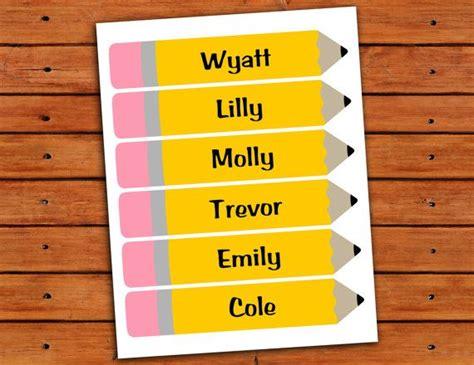 printable pencil labels personalized classroom pencil labels digital printables