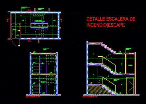 fire escape dwg detail  autocad designs cad