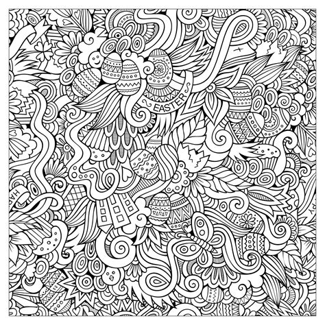 Coloriage De P 226 Ques Oeufs De P 226 Ques Lapins Cloches Easter Coloring Book Pages L