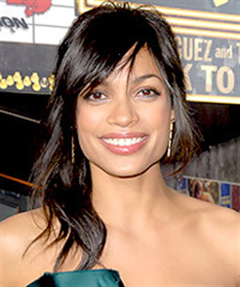 rosario dawson square face hairstyles gallery pictures from the premiere of
