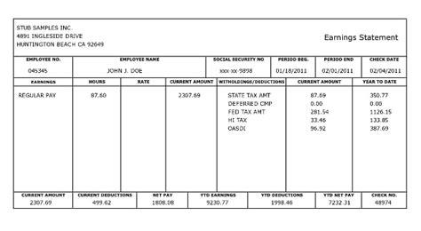 pay stub template microsoft printable check 03 final representation