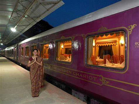 india luxury train film news the golden chariot luxurious train in india