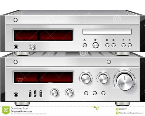 stereo audio compact disc cd player with lifier
