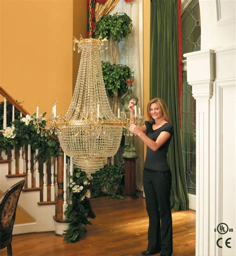 Chandeliers For Foyer Home Aladdin Light Lift