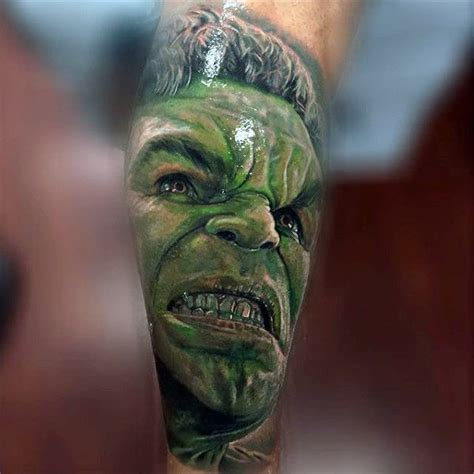 100 incredible hulk tattoos for men gallant green design