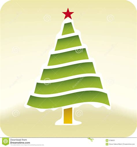 vector christmas tree tutorial christmas snow tree vector stock vector image 3798031
