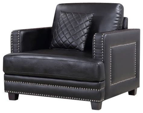 Leather Black Chairs by Ferrara Black Leather Chair Armchairs And Accent Chairs By Meridian Furniture