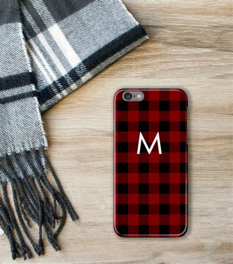 buffalo check iphone  case plaid iphone  red  black