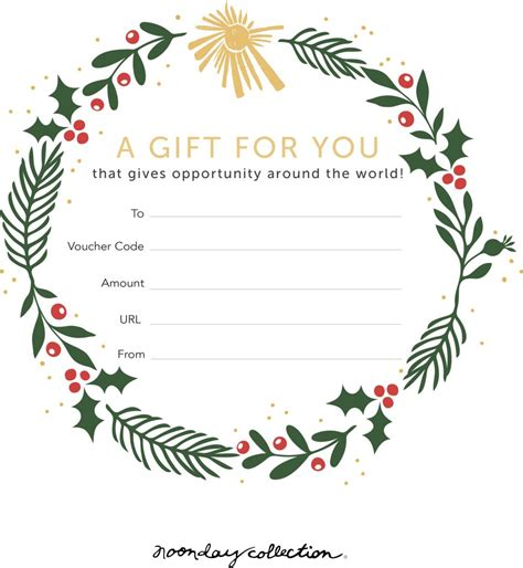 Gift It Beautiful Download Our Holiday Gift Card Template Flourish By Noonday Collection Present Template