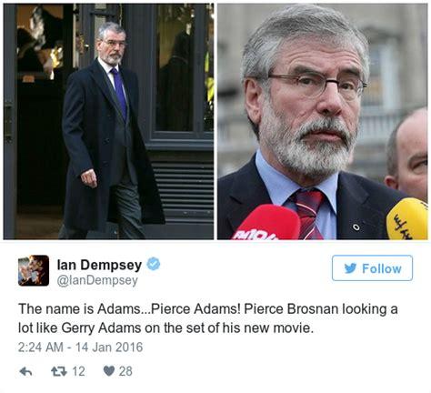 movienews watch pierce brosnan looks very gerry adams esque in pierce brosnan looks very like gerry adams in his new film