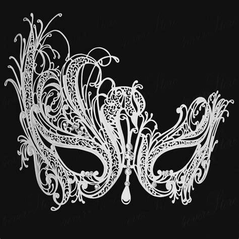 swan mask template free shipping luxury phantom white metal venetian