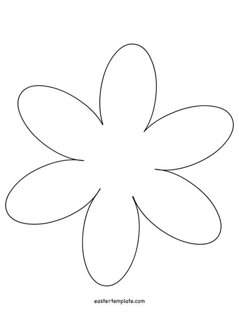 6 Petal Flower Template by 6 Petal Flower Template лето Template