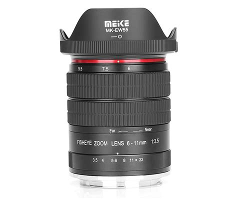 new meike 6 11mm f 3 5 fisheye manual lens for nikon and canon cameras announced photo rumors