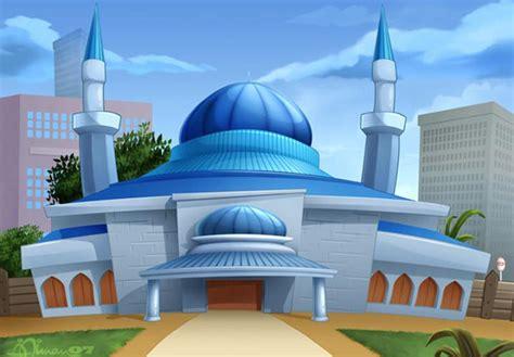 wallpaper masjid cantik gambar animasi masjid jami pondok pesantren wali songo