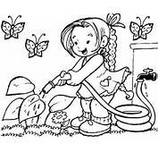 Spring Coloring Pages For Kids  Lab