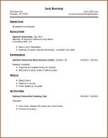 Example Resume No Experience Job Resume Examples No Experience Resume For High School