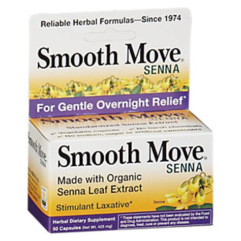 Smooth Move Detox by Smooth Move Senna 50 Capsules By Traditional Medicinals