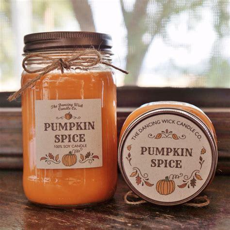 pumpkin candles pumpkin spice soy candle large pint 16 oz half pint