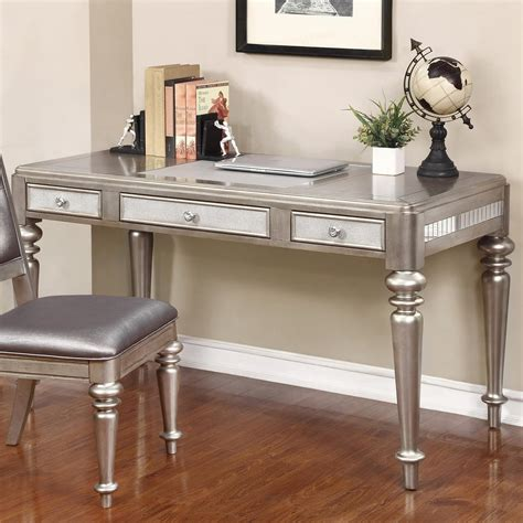 coaster 804187 writing desk with leatherette drawer fronts