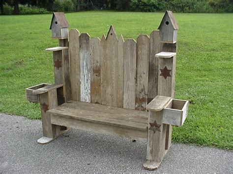 Handmade Garden Bench - 54 best images about birdhouse fence on