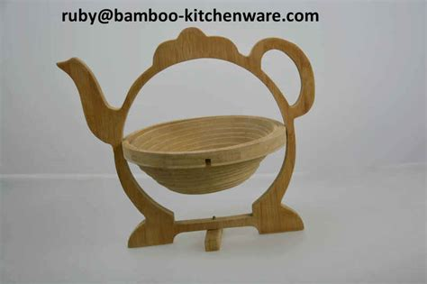 Folding Pot Mat 1 bamboo wooden tea pot folding collapsible fruit basket