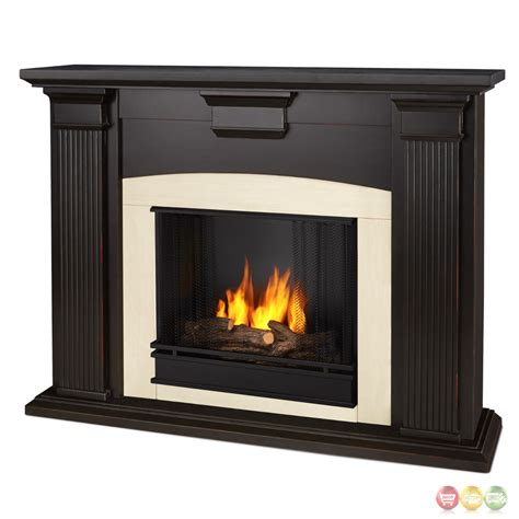 Ventless Fireplace by Adelaide Ventless Gel Fireplace In Antique Blackwash With