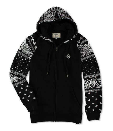 paisley pattern hoodies ecko unltd mens paisley hoodie hoodie sweatshirt black l