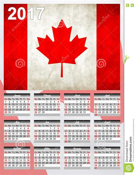 new year week 2017 2017 calendar canadian country flag banner happy new