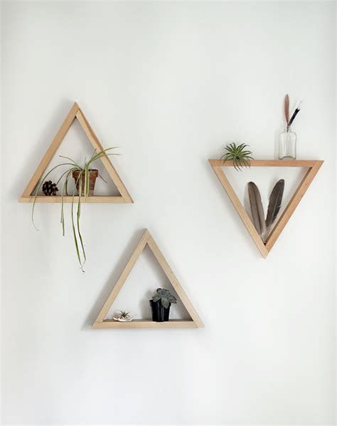 diy wooden triangle shelves 187 the merrythought